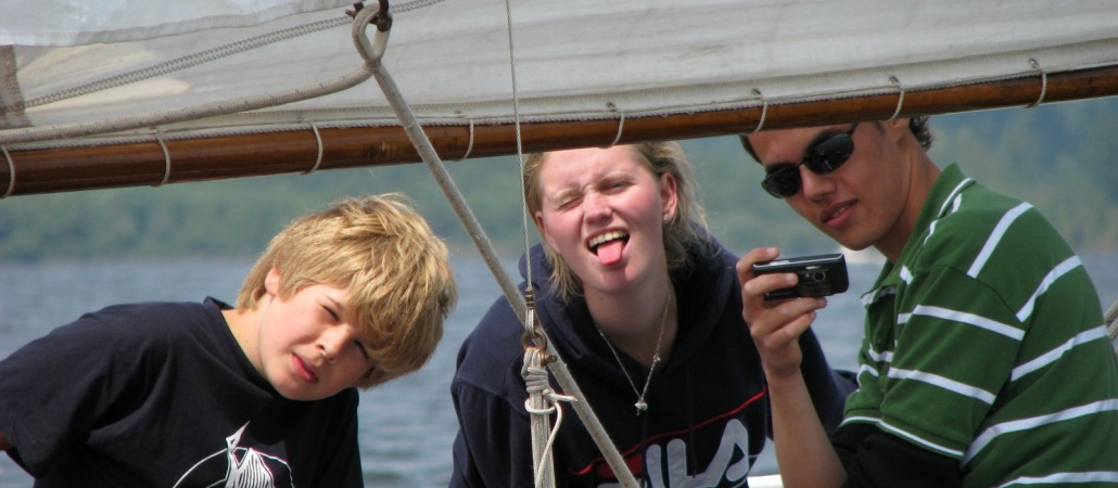 Samen in een boot lol maken